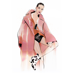 Max mara iconic coat by alina grinpauka fashion illustration