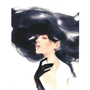 Alina grinpauka fashion illustration valentino inspired illustration
