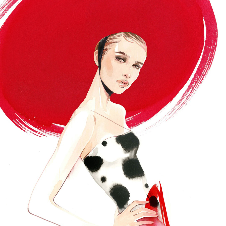 Alina grinpauka untitled fashion illustration