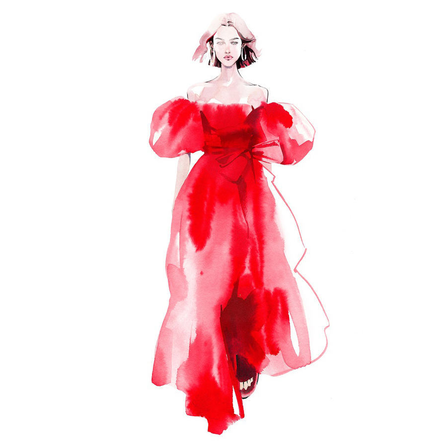 Alina grinpauka fashion illustration trends valentino