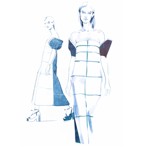 Alina grinpauka fashion illustration fashion week backstage delpozo