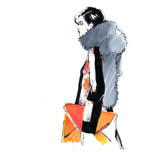 Alina grinpauka fashion illustration dries van noten runway