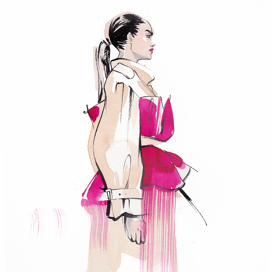 Alina grinpauka fashion illustration fashion week %2811%29