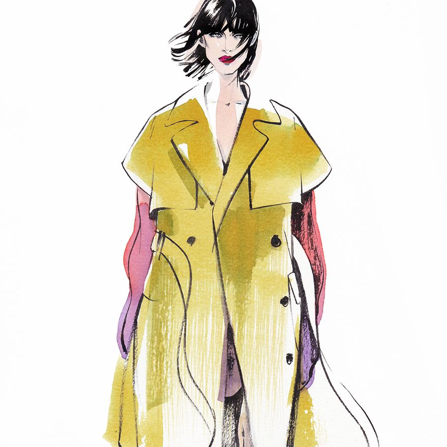 Alina grinpauka fashion illustration fashion week %2810%29