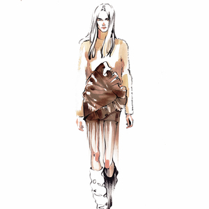 Alina grinpauka fashion illustration saint laurent catwalk