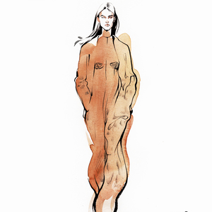 Alina grinpauka fashion illustration fashion week  ysl