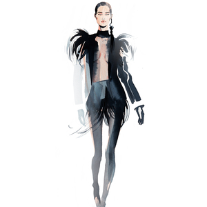 Alina grinpauka fashion illustration jpg full look